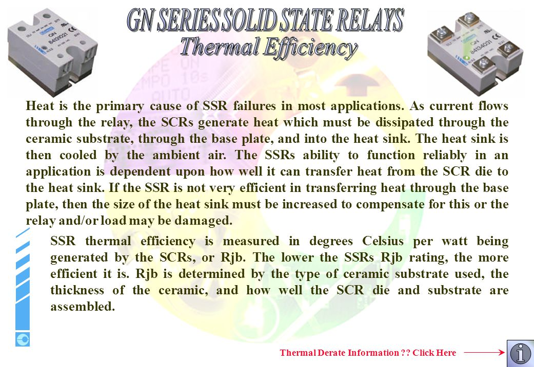Thermal Derate Information Click Here
