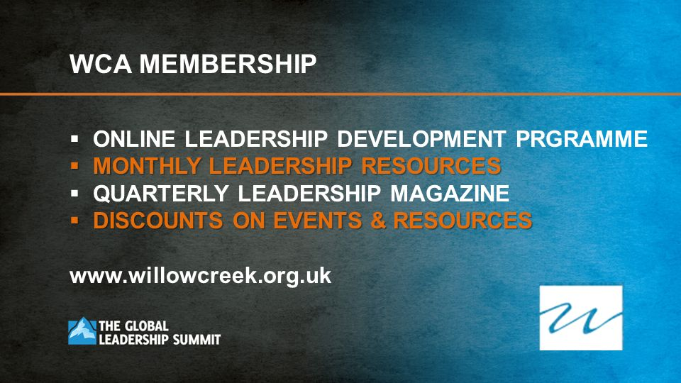 WCA MEMBERSHIP ONLINE LEADERSHIP DEVELOPMENT PRGRAMME