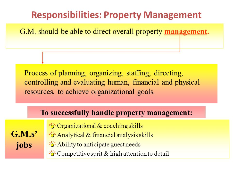 Responsibilities: Property Management