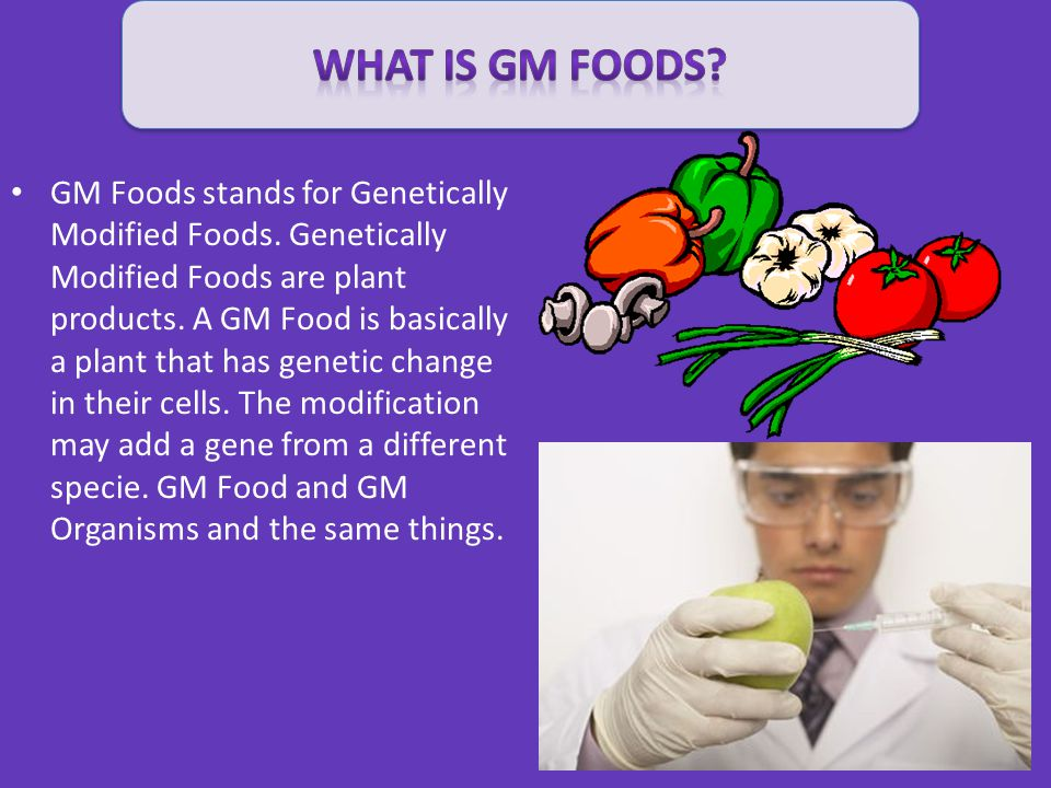 what IS GM FOODS