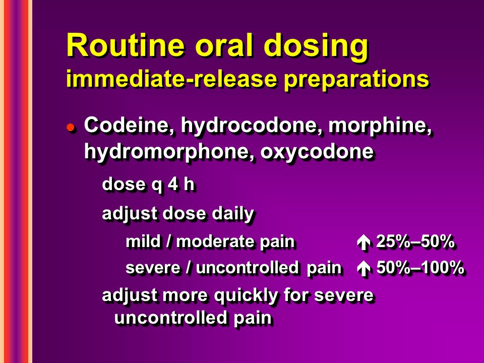 Routine oral dosing immediate-release preparations