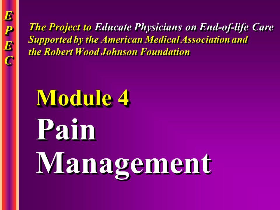 Pain Management Module 4