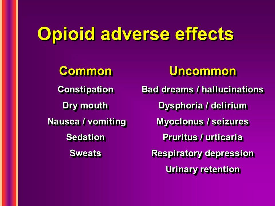 Opioid adverse effects