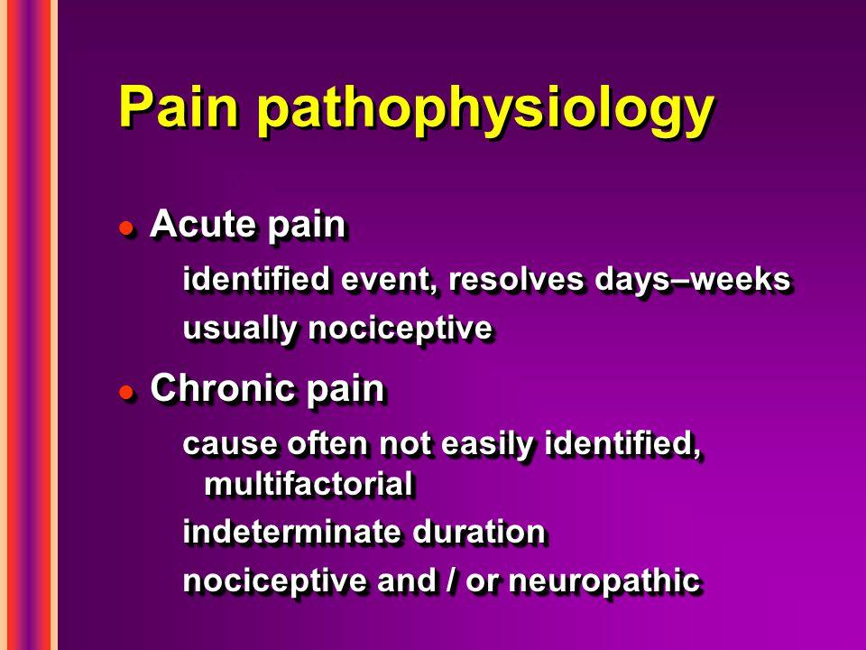 Pain pathophysiology Acute pain Chronic pain