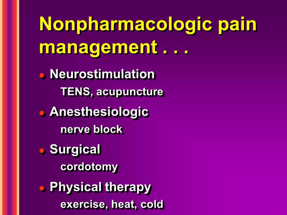 Nonpharmacologic pain management . . .