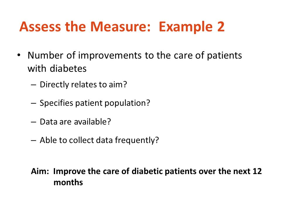 Assess the Measure: Example 2