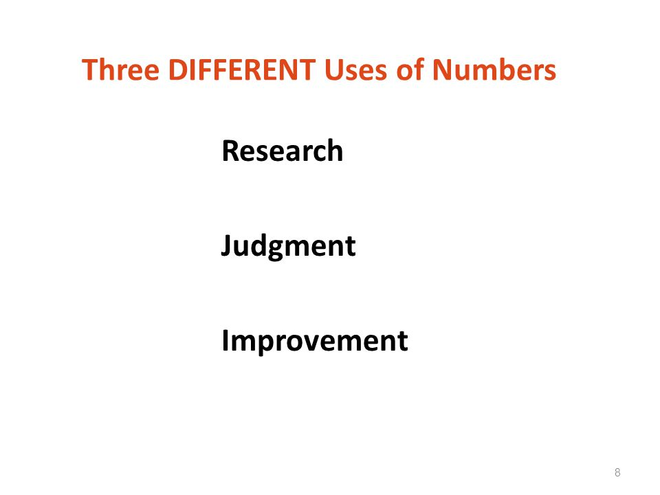 Three DIFFERENT Uses of Numbers