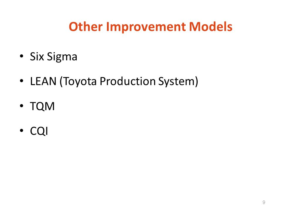 Other Improvement Models