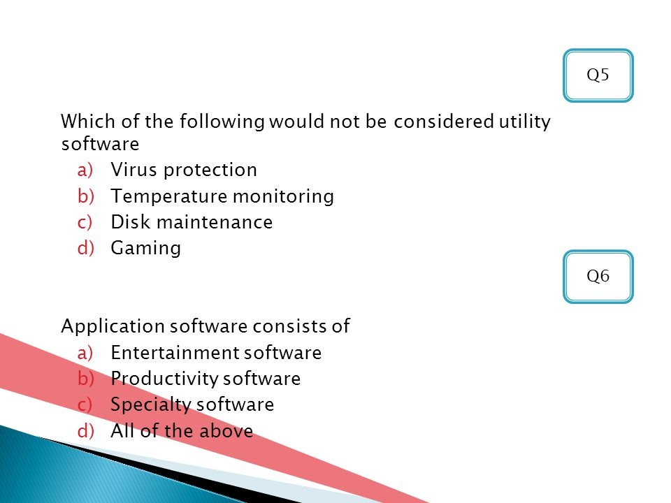 Which of the following would not be considered utility software