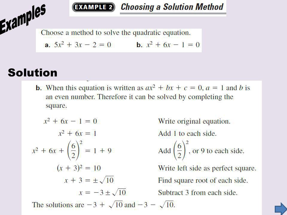 Examples Solution