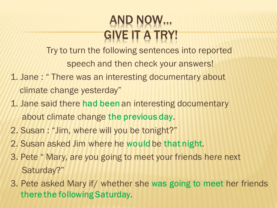 And now… give it a try!