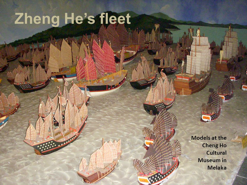 Zheng He's fleet Models at the Cheng Ho Cultural Museum in Melaka