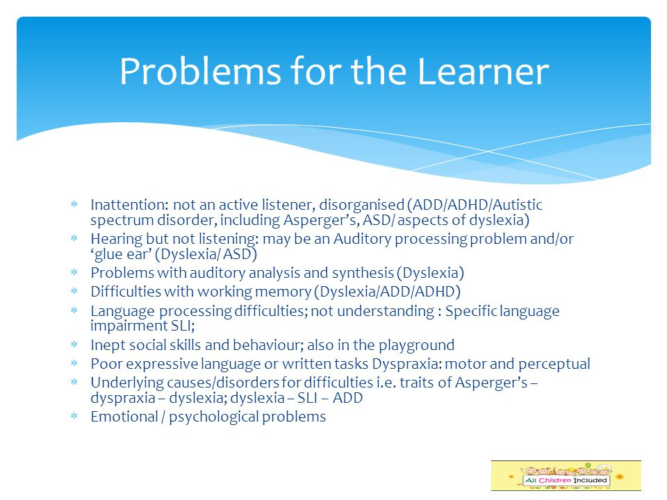 Problems for the Learner