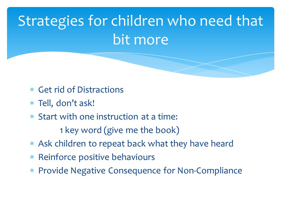 Strategies for children who need that bit more