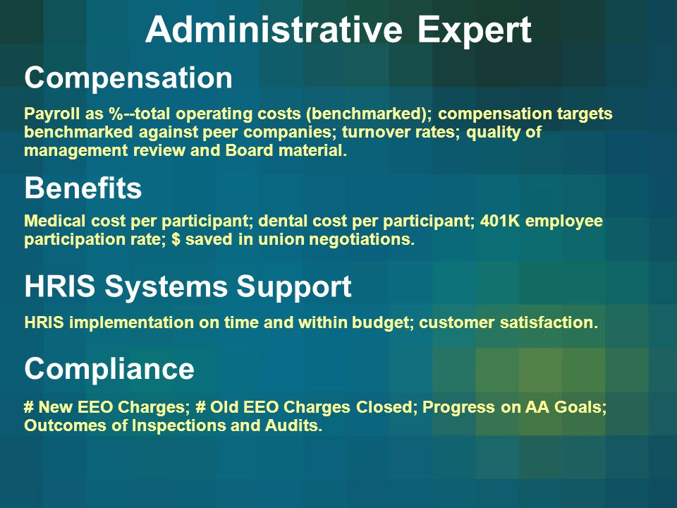 Administrative Expert