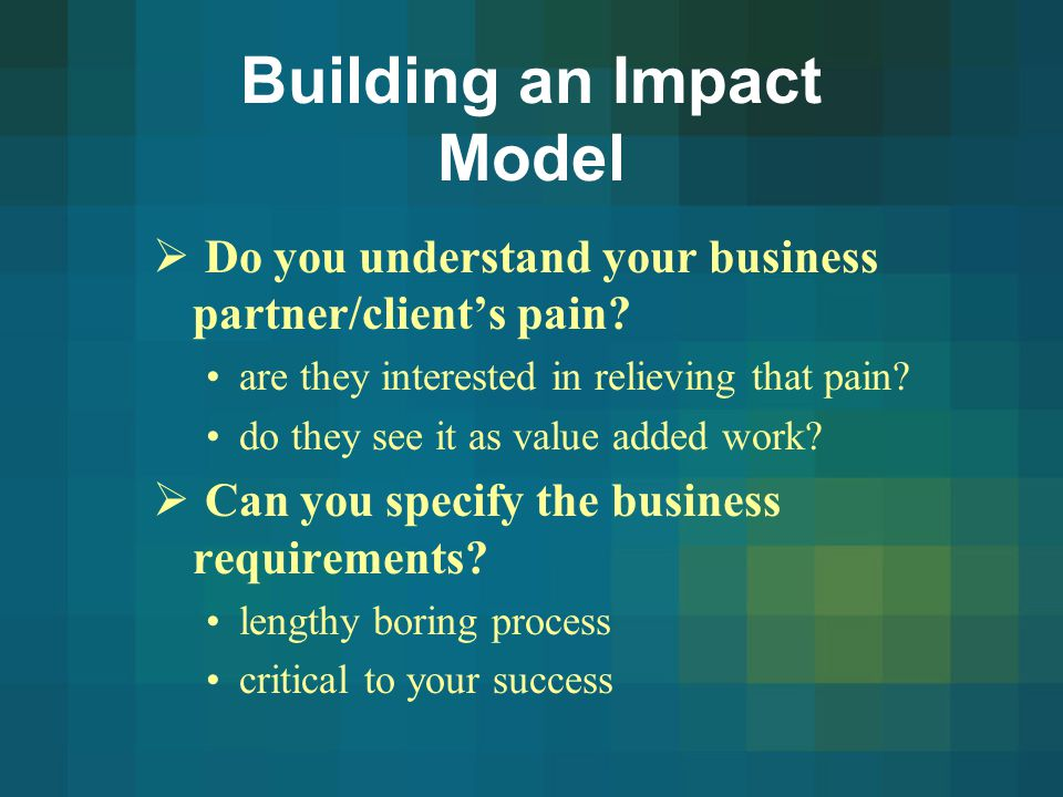 Building an Impact Model