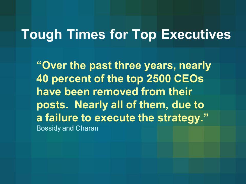 Tough Times for Top Executives