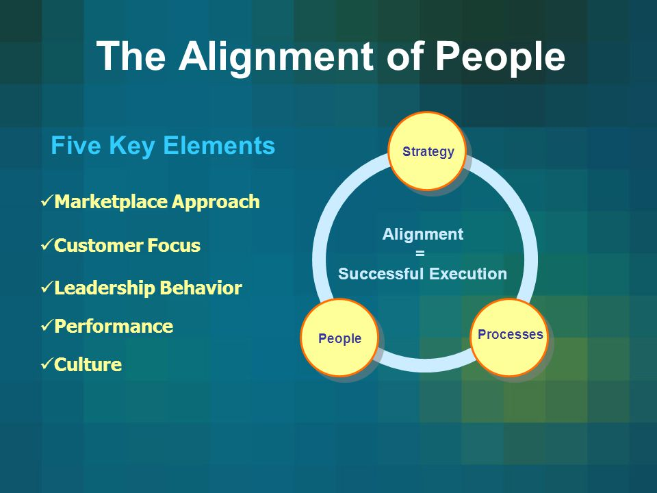 The Alignment of People