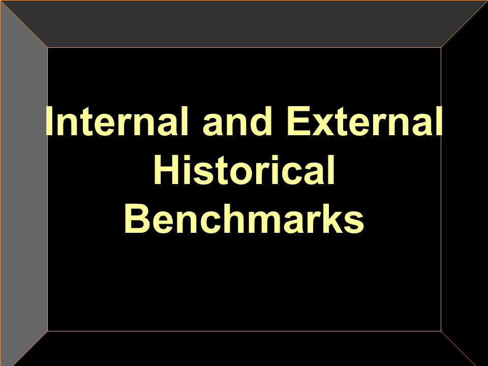 Internal and External Historical Benchmarks