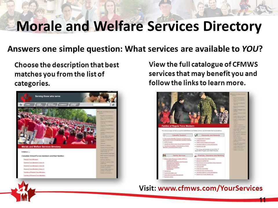 Morale and Welfare Services Directory