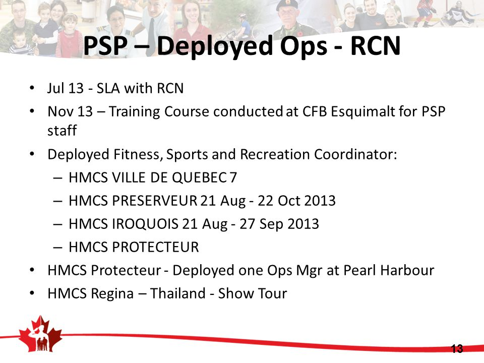PSP – Deployed Ops - RCN Jul 13 - SLA with RCN