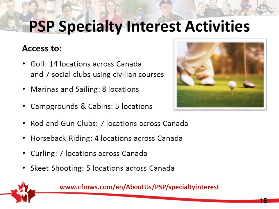 PSP Specialty Interest Activities