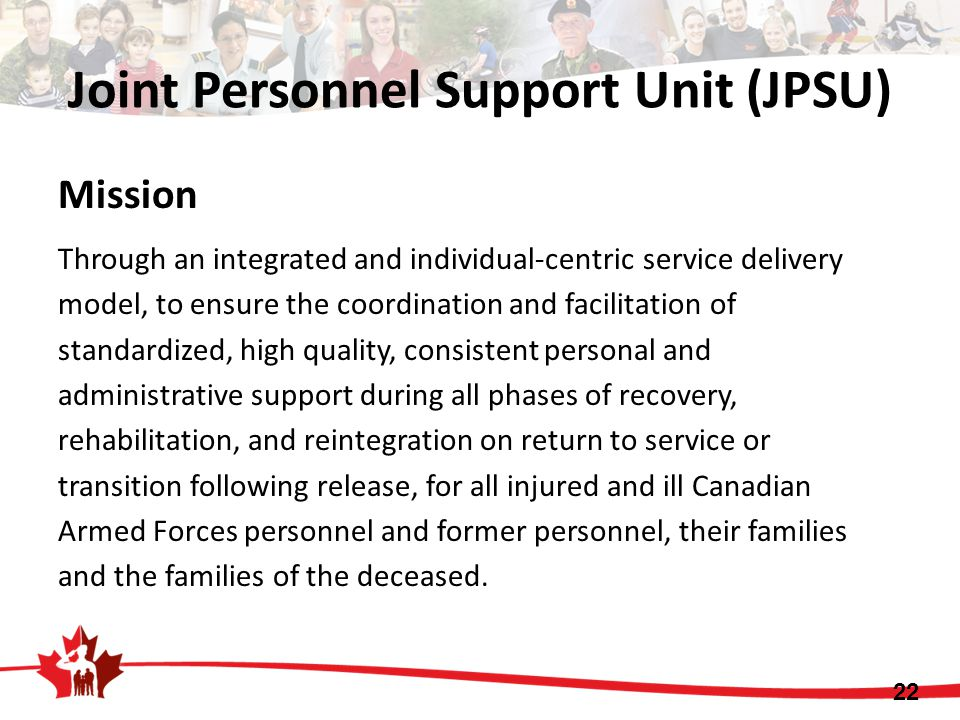 Joint Personnel Support Unit (JPSU)
