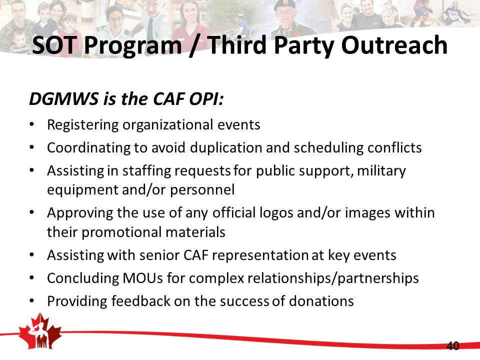 SOT Program / Third Party Outreach