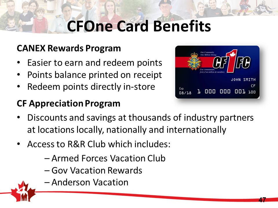 CFOne Card Benefits CANEX Rewards Program