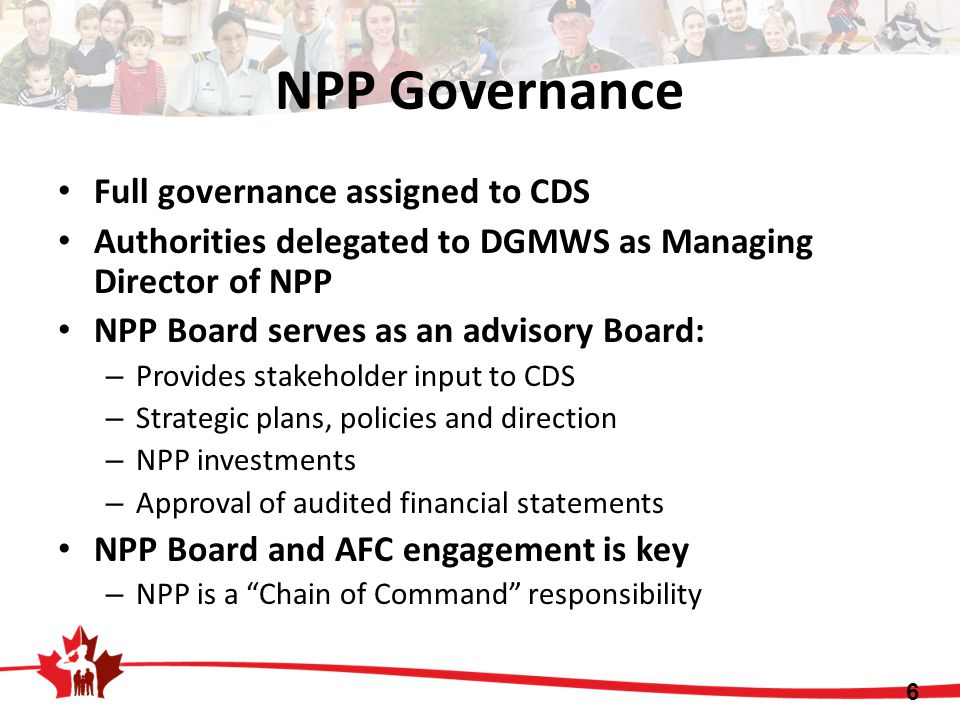 NPP Governance Full governance assigned to CDS