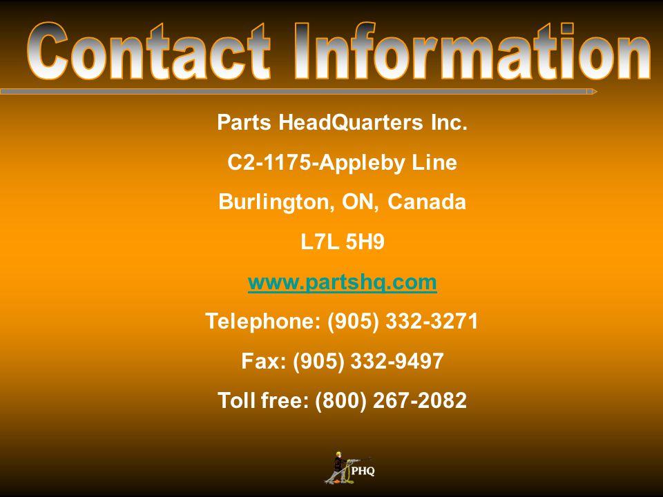 Parts HeadQuarters Inc.