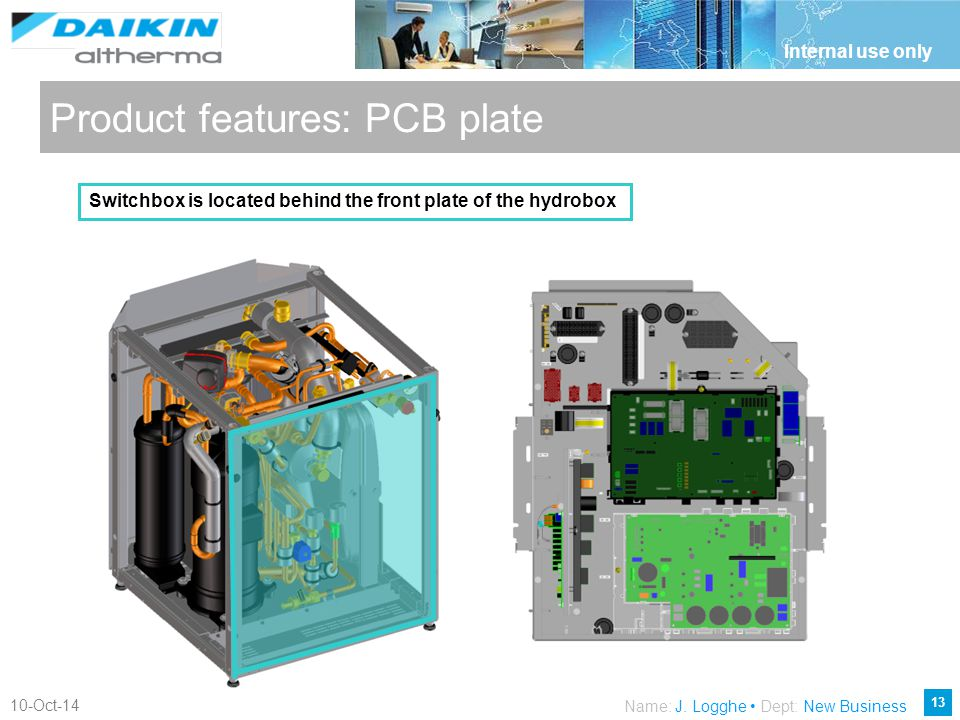 Product features: PCB plate