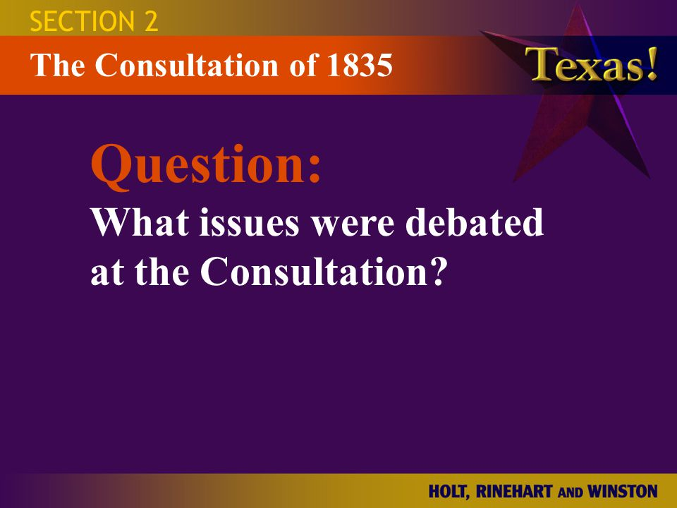 Question: What issues were debated at the Consultation