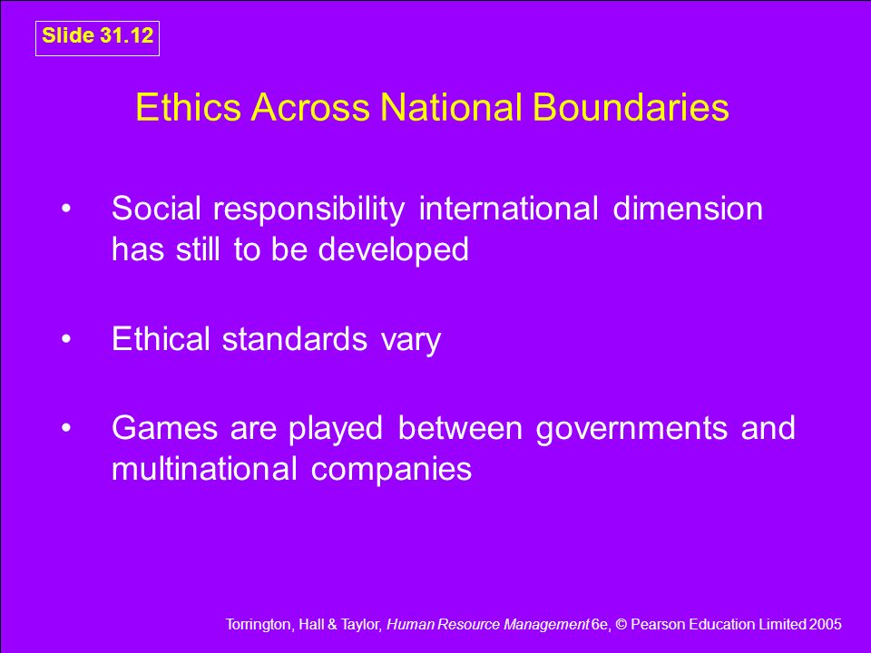 Ethics Across National Boundaries