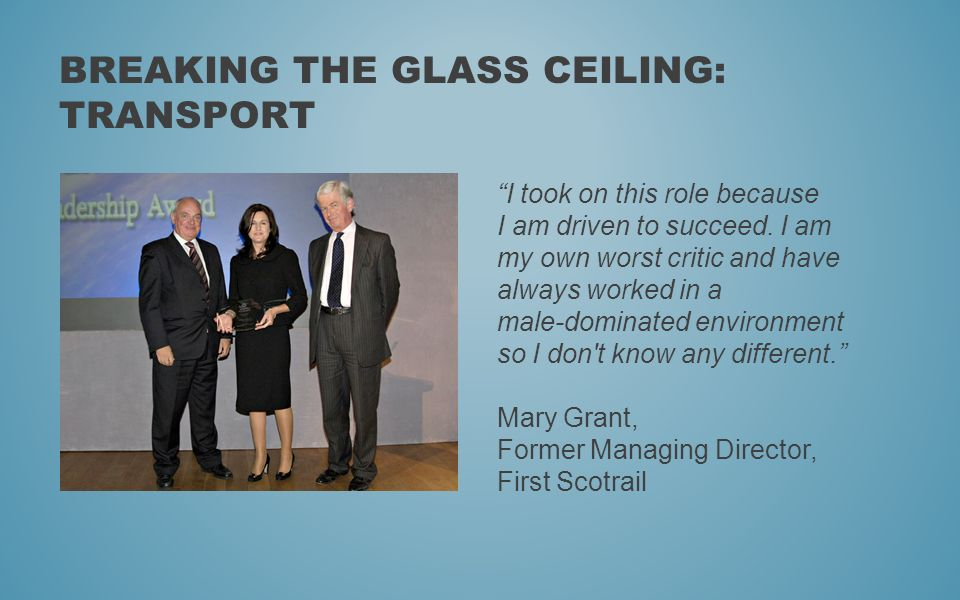 Breaking the glass ceiling: Transport