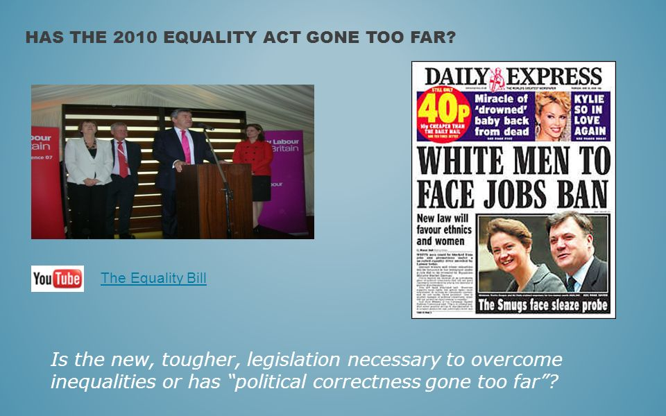 Has the 2010 Equality Act gone too far