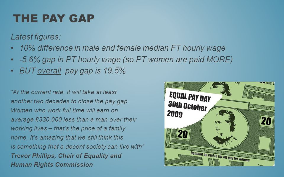 The Pay Gap Latest figures: