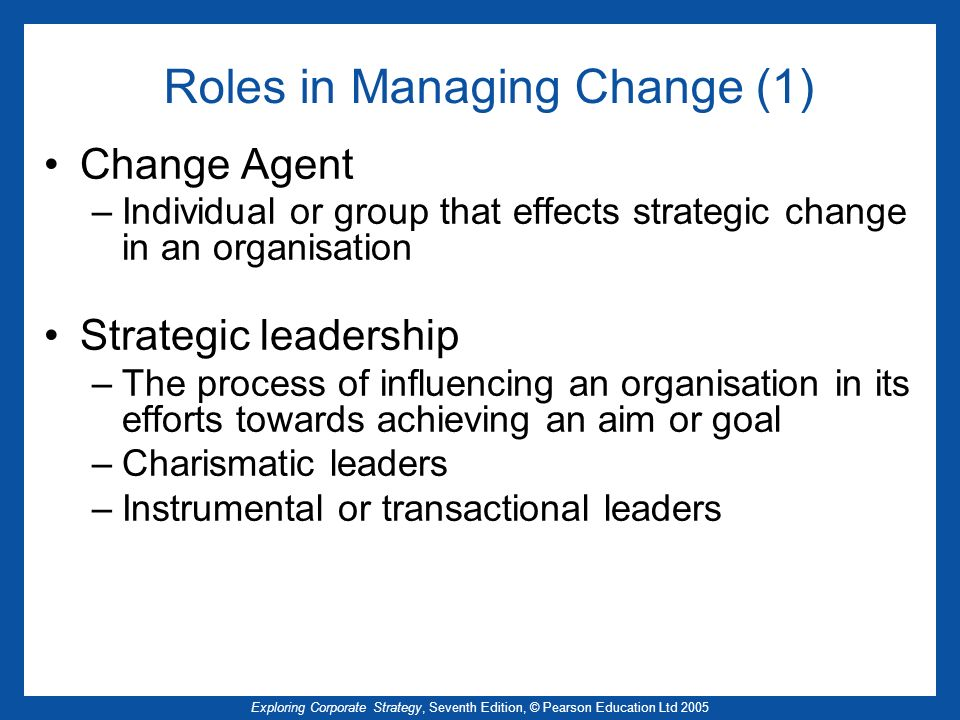 Roles in Managing Change (1)