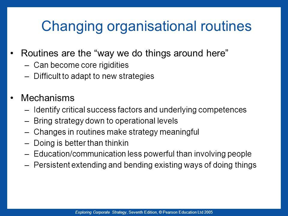 Changing organisational routines