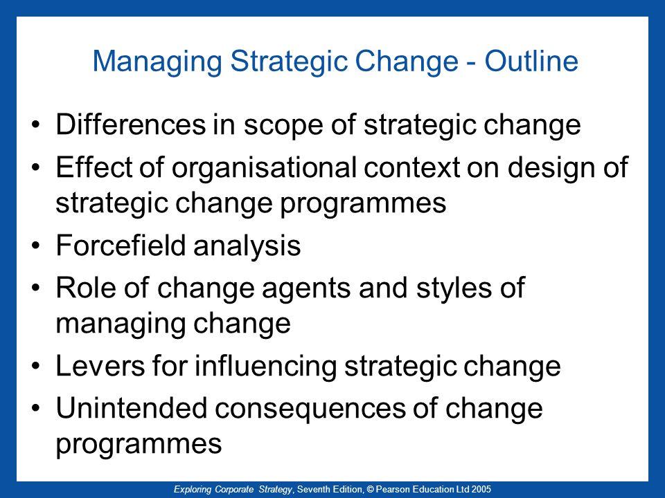 Managing Strategic Change - Outline
