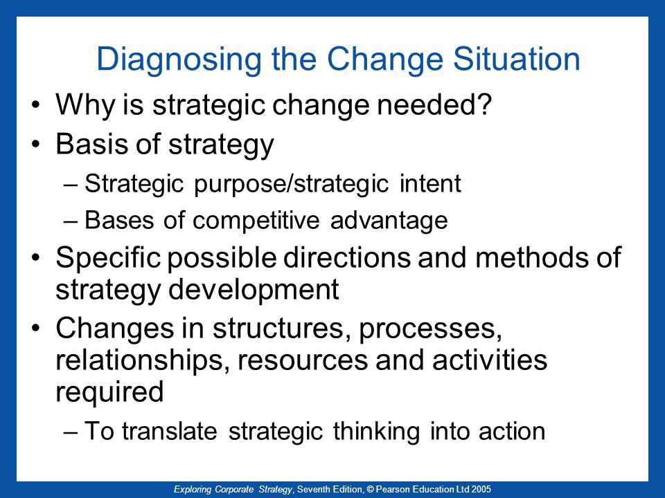 Diagnosing the Change Situation