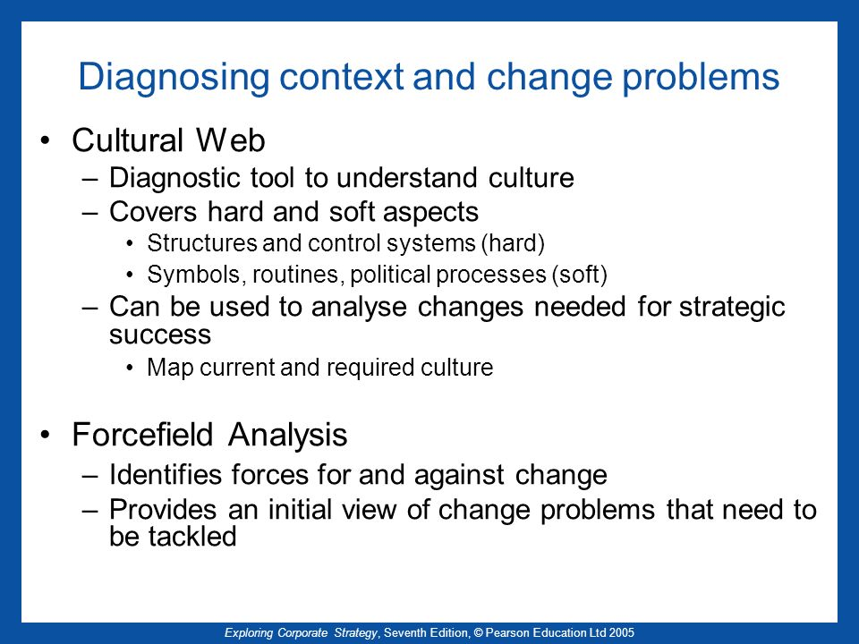 Diagnosing context and change problems