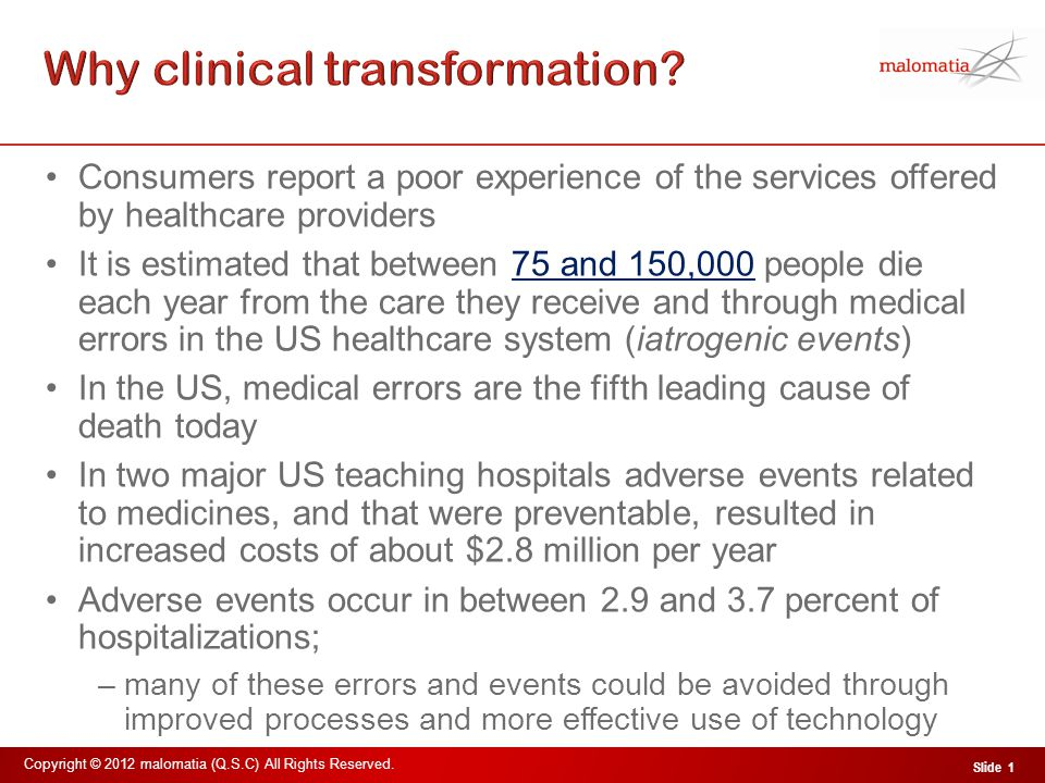 Why clinical transformation