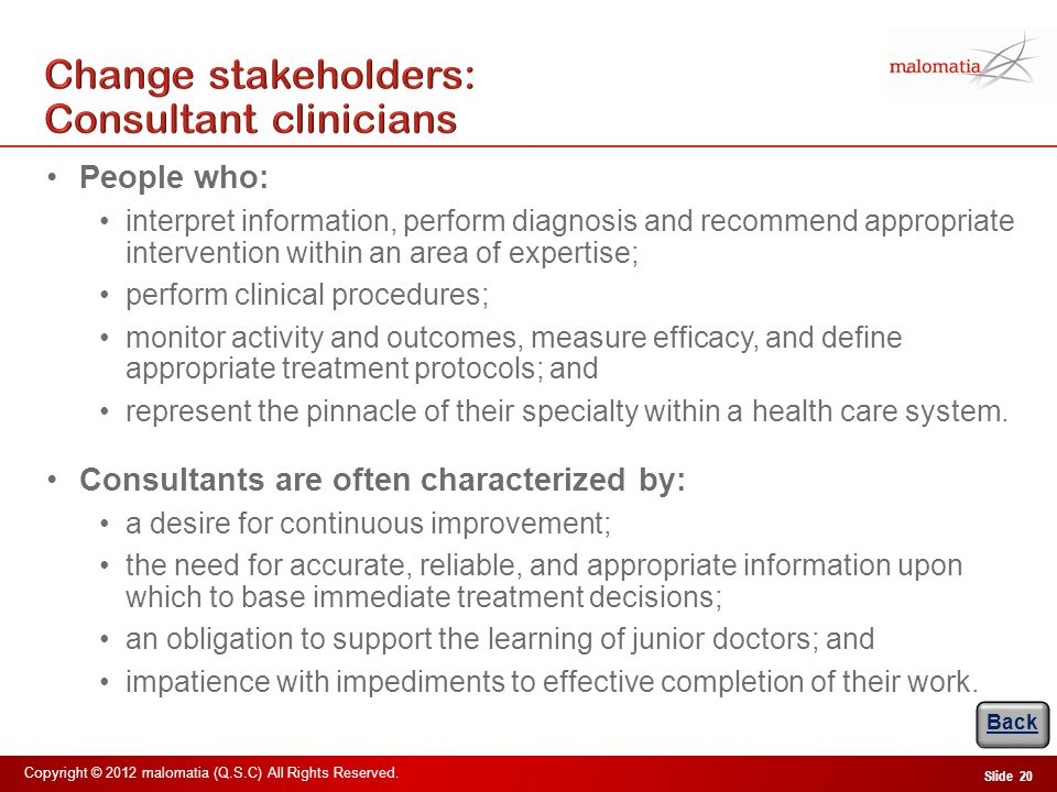 Change stakeholders: Non-consultant hospital doctors