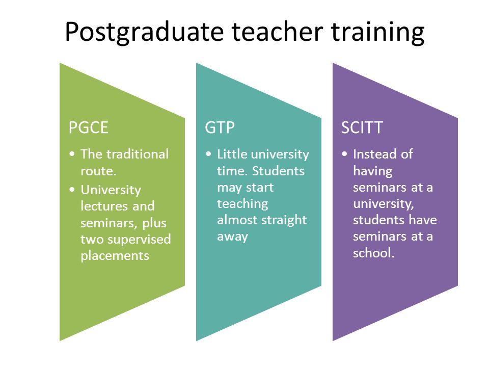 Postgraduate teacher training