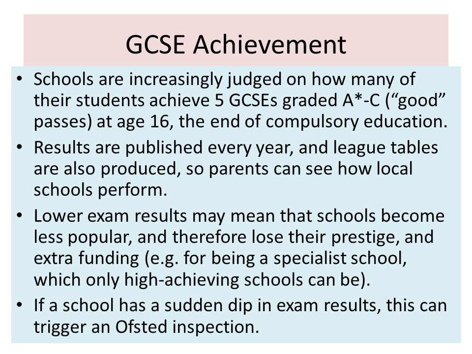 GCSE Achievement