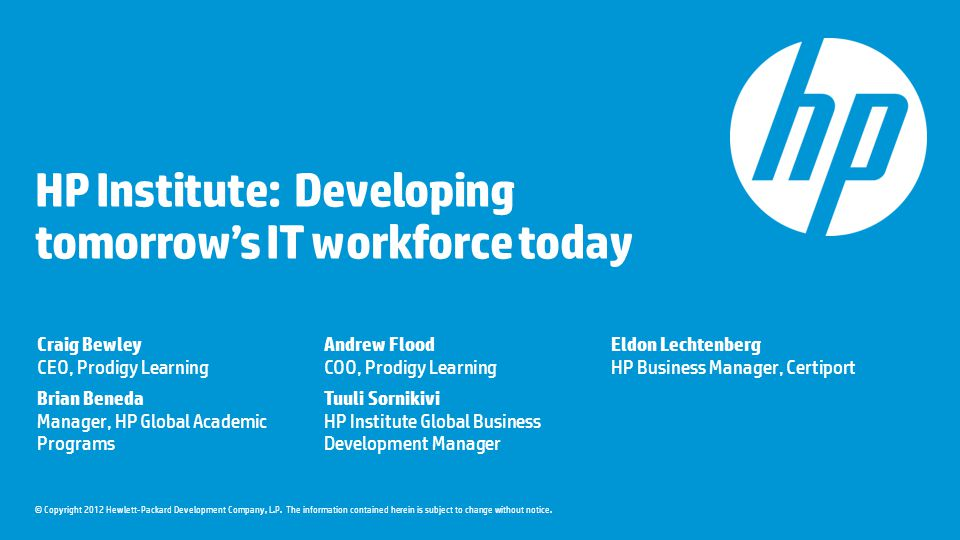 HP Institute: Developing tomorrow's IT workforce today