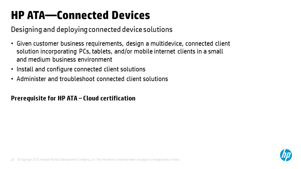 HP ATA—Connected Devices
