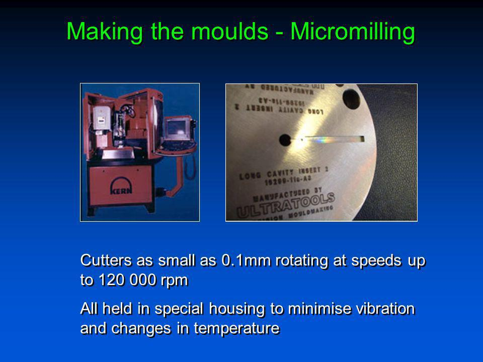 Making the moulds - Micromilling