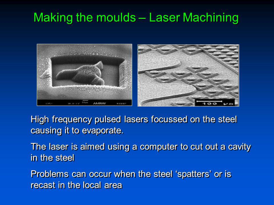 Making the moulds – Laser Machining
